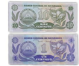 Billetes de 1 y 10 centavos