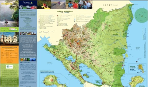 New tourist map of Nicaragua available to the public ViaNica – Tourist Attractions Map In Nicaragua